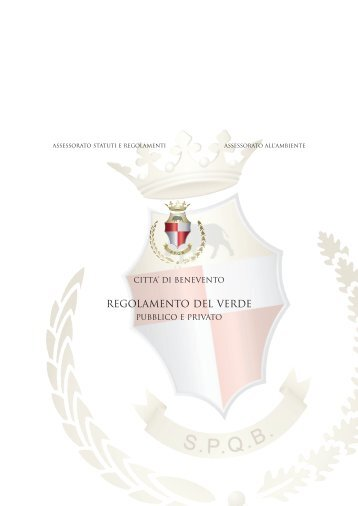 Regolamento del verde pubblico e privato - Comune di Benevento