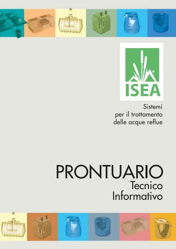Imhoff magazines for Fossa biologica a dispersione