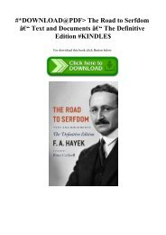 #DOWNLOAD@PDF The Road to Serfdom – Text and Documents – The Definitive Edition #KINDLE$