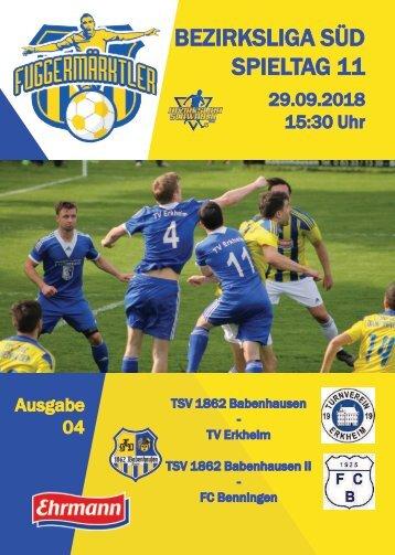 201800929 Fuggermärktler TSV 1862 Babenhausen – TV Erkheim