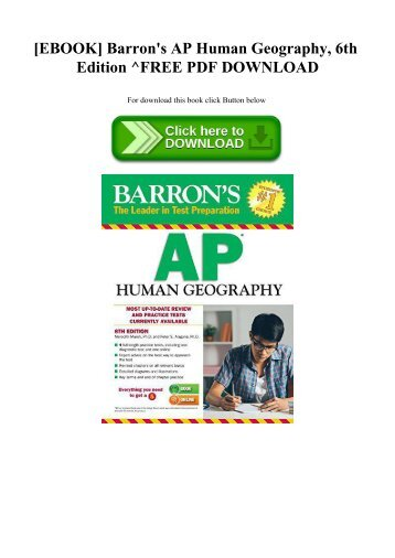 READ [EBOOK] Barron's AP Human Geography  6th Edition ^FREE PDF DOWNLOAD
