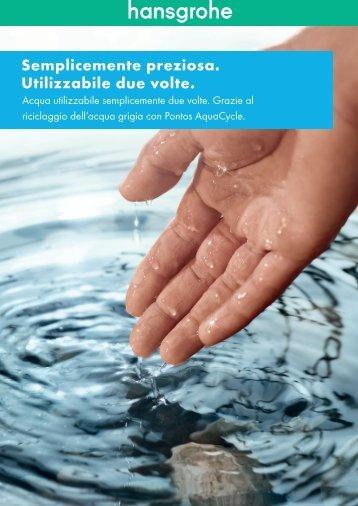 Riciclaggio dell'acqua grigia con Pontos AquaCycle - Hansgrohe