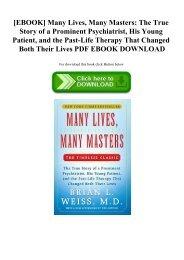 Many Life Many Masters Pdf