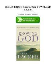 $READ$ EBOOK Knowing God DOWNLOAD E.P.U.B.