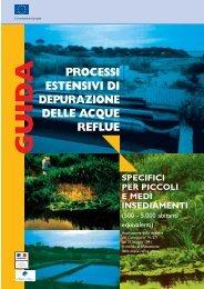processi estensivi di depurazione delle acque reflue guid a