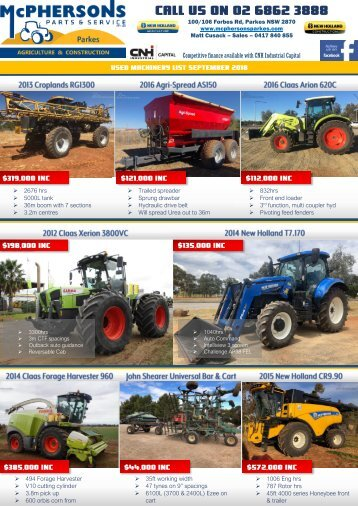 Used Machinery Newsletter