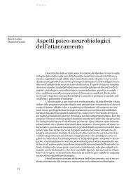 Aspetti psico-neurobiologici dell'attaccamento - Dipartimento di ...