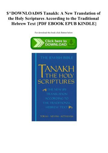 Hebrew English Tanakh Pdf