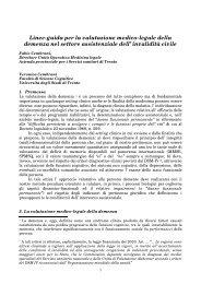 Linee-guida per la valutazione medico-legale della demenza nel ...