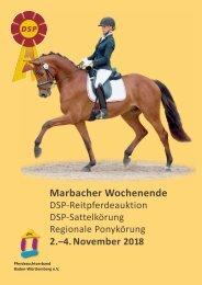 Auktionskatalog Marbacher Wochenende 2018