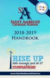 Saint Ambrose School Student Handbook 2018-2019