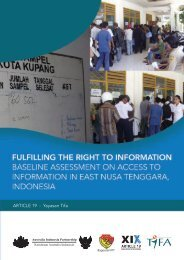 Fulfilling the Right to Information - Good Law and Practice