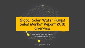 Global Solar Water Pumps Sales Market Report 2018 Overview