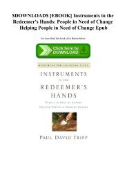 $DOWNLOAD$ [EBOOK] Instruments in the Redeemer's Hands People in Need of Change Helping People in Need of Change Epub