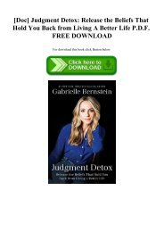[Doc] Judgment Detox Release the Beliefs That Hold You Back from Living A Better Life P.D.F. FREE DOWNLOAD