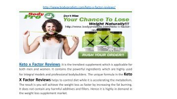 Keto X Factor Reviews - Keto X Factor Diet Pills