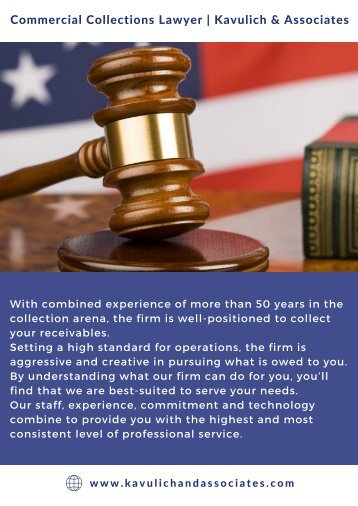 Commercial Collection Lawyers | Kavulich and Associates