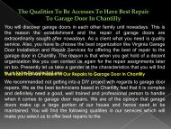 The Qualities To Be Accesses To Have Best Repair To Garage Door In Chantilly-converted