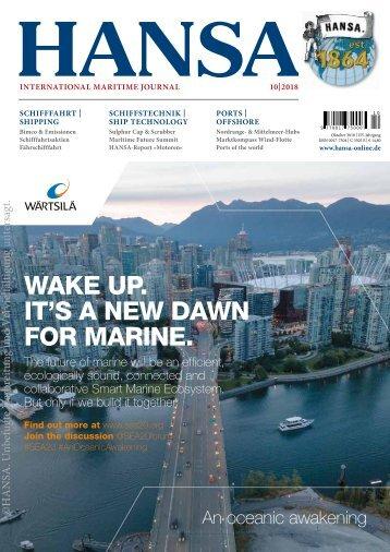 HANSA - International Maritime Journal, Oktober 2018