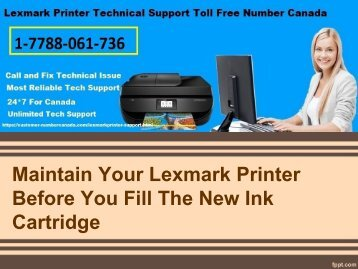 MAINTAIN YOUR LEXMARK PRINTER BEFORE YOU FILL THE NEW INK CARTRIDGE-converted