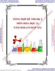 Tổng hợp đề thi HK 2 môn Hóa học 11 năm 2018 có đáp án
