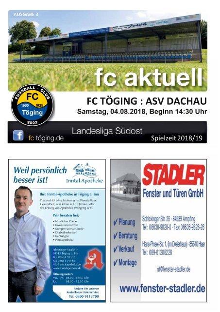 """""""fc aktuell"""" Saison 2018-19 Ausgabe 3"""