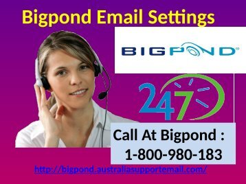 Activate Spam Filter By Updating Bigpond Email Settings| 1-800-980-183
