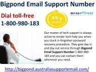 Bigpond Email Support Number 1-800-980-183|Share Heavy Files Easily