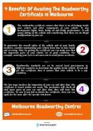 4 Benefits Of Availing The Roadworthy Certificate in Melbourne