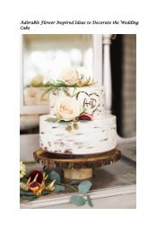 Adorable Flower Inspired Ideas to Decorate the Wedding Cake