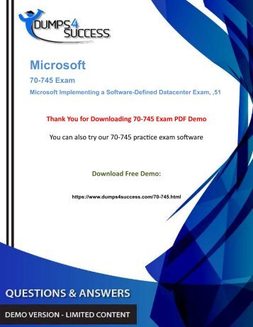 Microsoft 70-745 Certified Professional Exam Questions - Secret To Pass In First Attempt