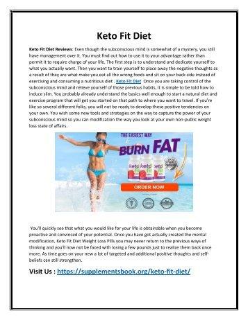 Keto Fit Diet - Release Your Stubborn Fat