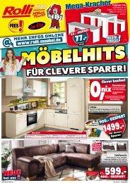 Möbelhits für clevere Sparer: ROLLI SB-Möbelmarkt in Elz bei Limburg