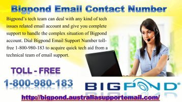 24/7 Active Contact Number 1-800-980-183 For Bigpond Email Services