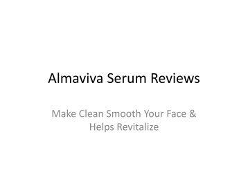 Almaviva Serum Reviews