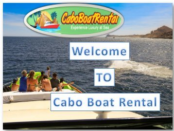 Boats for rent in Los Cabos