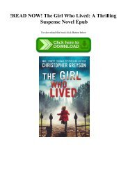 !READ NOW! The Girl Who Lived A Thrilling Suspense Novel Epub