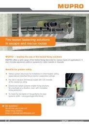 MÜPRO Fire-tested fastening solutions EN