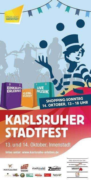 Karlsruher Stadtfest 2018 - Programm