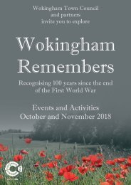 Wokingham Remembers Booklet 2018 small