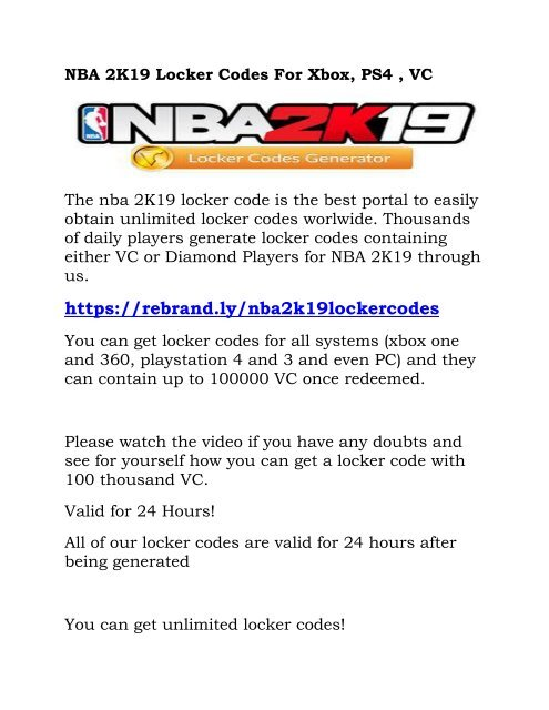 NBA 2K19 Locker Codes For Xbox-converted