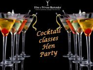 Cocktail Classes Hen Party- Make Your Day Memorable