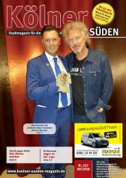 Kölner Süden Magazin September 2018