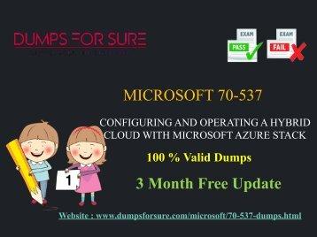 Microsoft 70-537 Dumps