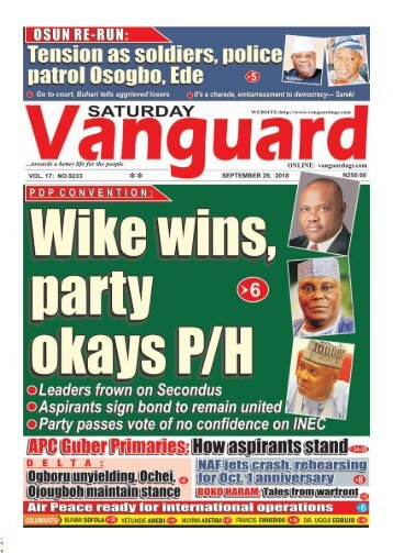29092018 - PDP CONVENTION: Wike wins, party okays P/H