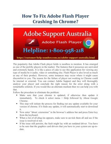 How To Fix Adobe Flash Player Crashing In Chrome