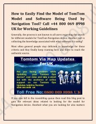 Tomtom Map Updates Dial Tollfree Number +44 800 069 8998 UK