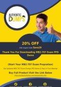 MB2-707 Dumps PDF | Free Microsoft MB2-707 Exam Dumps Demo - Page 4