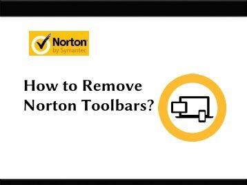 How to Remove Norton Toolbars
