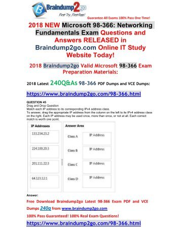 [2018-September-Version]New 98-366 VCE and PDF Dumps 240Q&As Free Share(Q45-Q55)